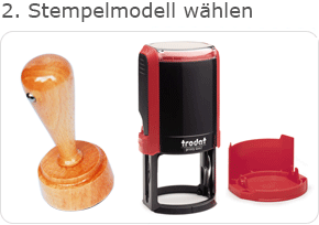 Vereinsstempel Holzgriff, Stempelautomat